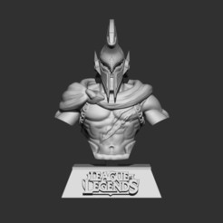 01.jpg Download STL file Bust Pantheon League of Legends 3D print model 3D print model • 3D printing design, Kside