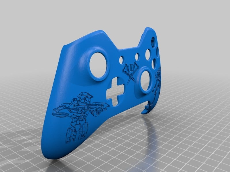 7ddeb85d2f081ad1dfe9b5b1b86025ff.png Download free STL file Xbox One S Customer Controller Shell - Halo Edition • Design to 3D print, mmjames
