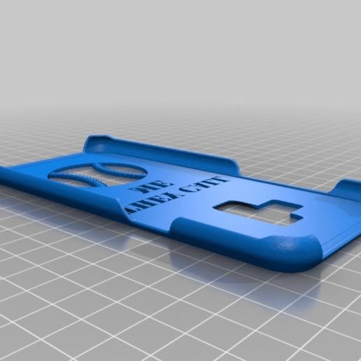 Download free STL file Samsung Galaxy S9 Custom Baseball Phone Case • 3D printer template, mmjames