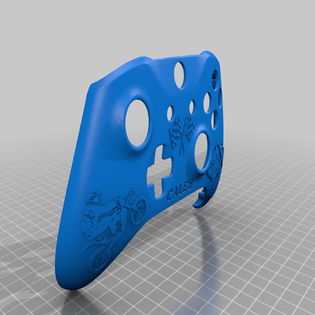 Caleb_Controller.png Download free STL file Xbox One S Custom Controller Shell: Christmas for Jacob and Caleb Editions • 3D printer object, mmjames