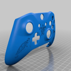 Download free STL file Xbox One S Custom Controller Shell: Turtle Edition • 3D printing design, mmjames