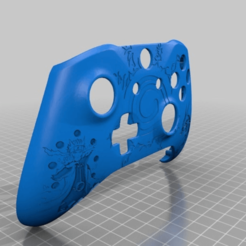 Download free STL file Xbox One S Custom Controller Shell: Naruto/Kurama Edition • 3D printer object, mmjames