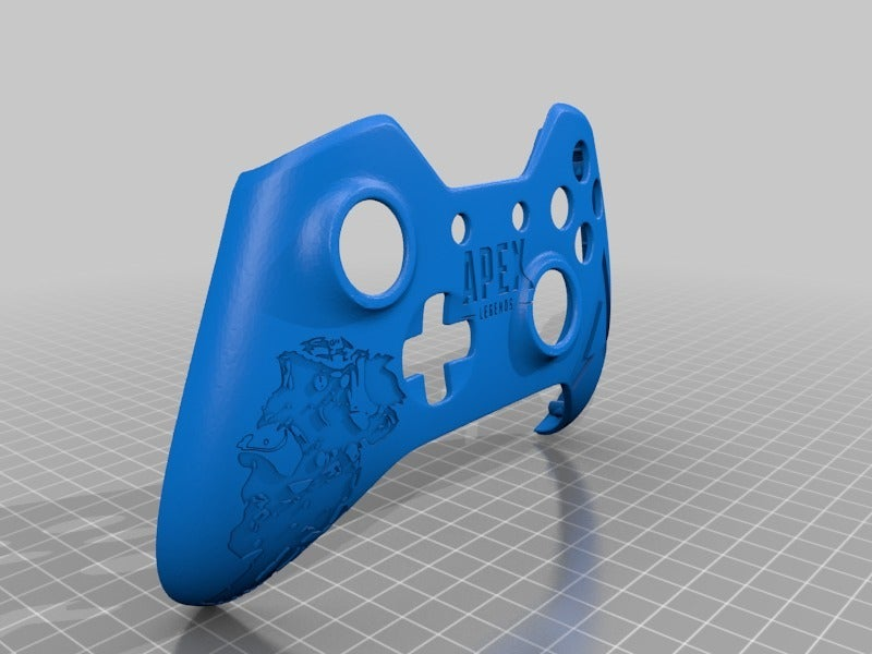 4ae4365694b23c0cd59400c8d213bebc.png Download free STL file Xbox One S Custom Controller Shell - Apex Legend Bloodhound • Design to 3D print, mmjames