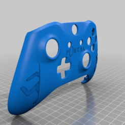 fed1f33dcb3b6a34fa16eff43c0b74d7.png Download free STL file Xbox One S Custom Controller Shell: Portal Edition • 3D printable template, mmjames