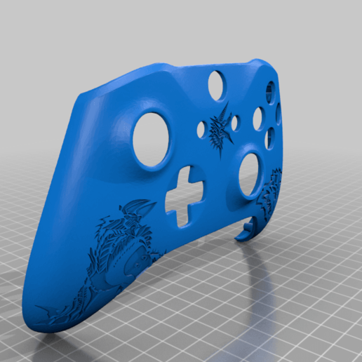 Download free STL file Xbox One S Custom Controller Shell: Monster Hunter Zinogre Edition • Object to 3D print, mmjames