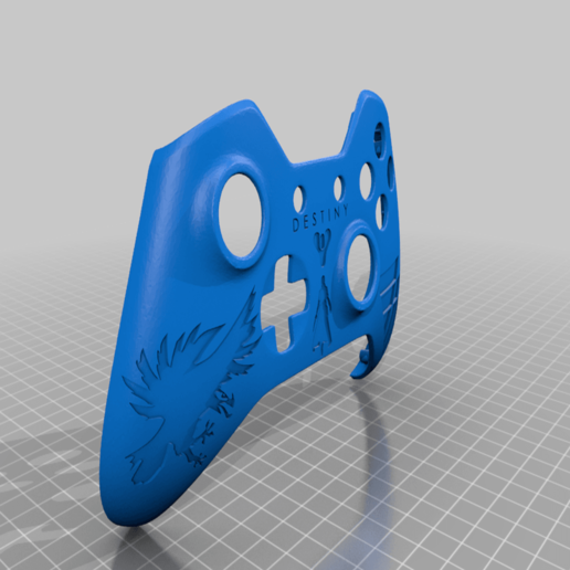Download free STL file Xbox One S Custom Controller Shell: Destiny Warlock Edition • 3D printable object, mmjames
