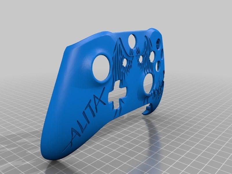 d8ba8e48f35001c6e6ed8e0ddf71d422.png Télécharger fichier STL gratuit Xbox One S Custom Controller Shell : Alita Battle Angel Edition • Modèle pour imprimante 3D, mmjames