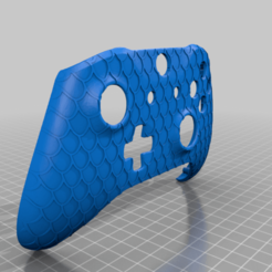 dragon_scale_controller.png Download free STL file Xbox One S Custom Controller Shell: Dragon Scale Texture Edition • 3D print object, mmjames