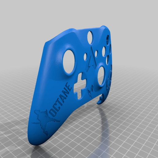 Download free STL file Xbox One S Custom Controller: Apex Legends - Octane Edition • 3D printable object, mmjames