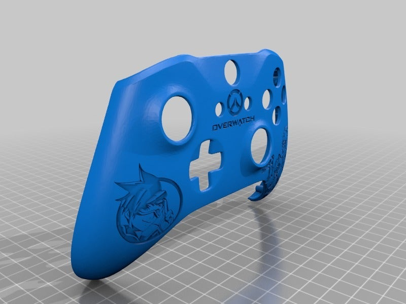 4541306b9f23e9f38fb6bf568573acf1.png Download free STL file Xbox One S Customer Controller Shell - Overwatch: Tracer Edition • 3D printing design, mmjames