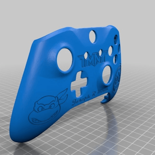 Download free STL file Xbox One S Custom Controller Shell: TMNT Edition for JW • 3D printing model, mmjames