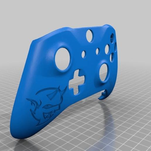 Download free STL file Xbox One S Custom Controller Shell: Demon Edition • 3D printer design, mmjames