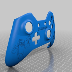 Download free 3D printing designs Xbox One S Custom Controller Shell - Minecraft Edition, mmjames