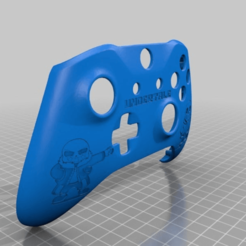 Download free 3D printing models Xbox One S Custom Controller Shell: Undertale Sans Edition, mmjames
