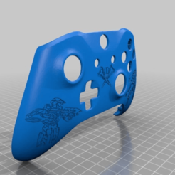 Download free STL file Xbox One S Customer Controller Shell - Halo Edition • Design to 3D print, mmjames