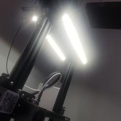 Télécharger fichier STL gratuit Eclairage pour Ender 3 ou Ender 3 Pro • Plan imprimable en 3D, stephsm