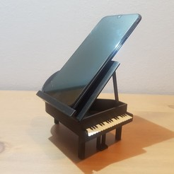 Download free 3D printer designs Piano phone holder, stephsm