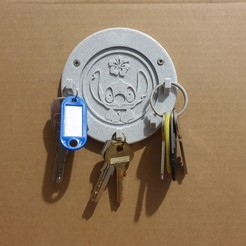 20201129_110607.jpg Download STL file Wall mounted key ring (Stitch) • 3D printing object, stephsm