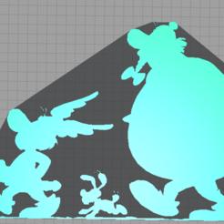 Capture.PNG Télécharger fichier STL Astérix Obélix Idéfix 2D • Design à imprimer en 3D, tuningboy