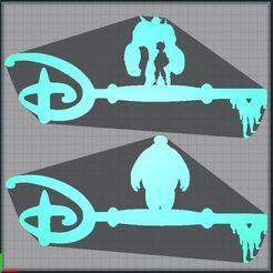 Capture.JPG Télécharger fichier STL Lot - Clé Baymax - Clef Baymax - key Baymax - Disney • Modèle à imprimer en 3D, tuningboy