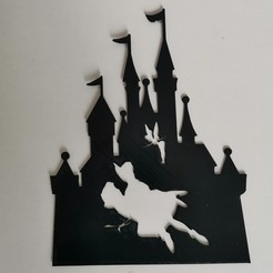 Descargar archivos STL Castle castel disney Peter Pan Wendy Fairy Tinker Bell - 2D, tuningboy