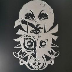 IMG_20200402_175449.jpg Télécharger fichier STL Zelda majora's mask shull kid moon 2D • Objet à imprimer en 3D, tuningboy
