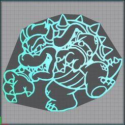 Capture.JPG Télécharger fichier STL Bowser 2D • Plan pour impression 3D, tuningboy