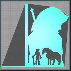 Capture.JPG Télécharger fichier STL Serre livres - bookend - Link et epona - link and epona - Legend of Zelda • Objet imprimable en 3D, tuningboy