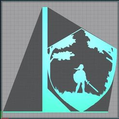 Capture.JPG Download STL file Bookend - bookend - Link shield - link shield - Legend of zelda • Template to 3D print, tuningboy