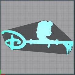 Capture.JPG Télécharger fichier STL Clé Elsa - Clef Elsa - key Elsa - Disney - Reine des neiges - Frozen • Plan pour impression 3D, tuningboy