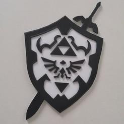 Descargar archivo 3D La Leyenda de Zelda - Espada de Link Shield - Espada de Link Shield - 2D, tuningboy
