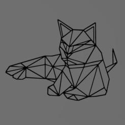 Télécharger fichier STL chat - cat - 2D, tuningboy