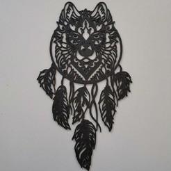 IMG_20200329_102601.jpg Télécharger fichier STL Dreamcatcher wolf - Attrape rêves loup - 2D • Plan pour imprimante 3D, tuningboy