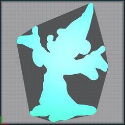 Télécharger objet 3D Mickey Fantasia - Disney - 2D, tuningboy