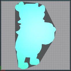 Capture.JPG Télécharger fichier STL Winnie the pooh - Winnie l'ourson - Disney - 2D • Objet pour imprimante 3D, tuningboy