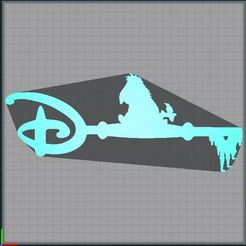 Download STL file Bouriquet Key - Clef Bouriquet - key eeryore - Disney • 3D print template, tuningboy