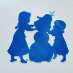 received_640258459901902.jpeg Télécharger fichier STL Elsa anna olaf - La reine des neiges - Frozen - Disney - 2D • Design imprimable en 3D, tuningboy