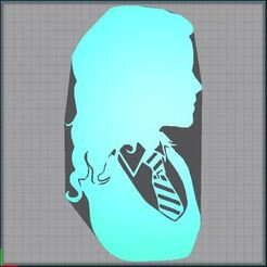 Télécharger fichier imprimante 3D Hermione Granger - Harry Potter - 2D, tuningboy