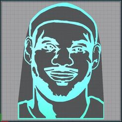 Capture.JPG Download STL file lebron james - NBA • 3D print model, tuningboy