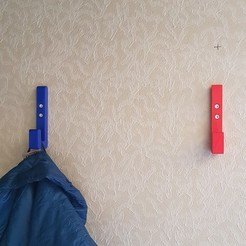 Download free 3D printing designs Wall-mounted coat rack, imprimeur3d