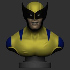 Download STL Wolverine Bust, IceWolf11