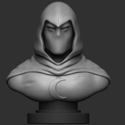 Download 3D printer model Moon Knight Bust, IceWolf11