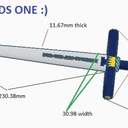 Download free 3D printer model SWORD FGC KING, GalacticCreator