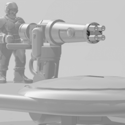 Download free 3D printer files Fish People Auxiliaries Heavy Weapons Team, buckhedges