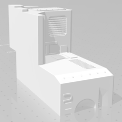 Download free 3D printer templates Wardog Torso-Split for easier printing, buckhedges