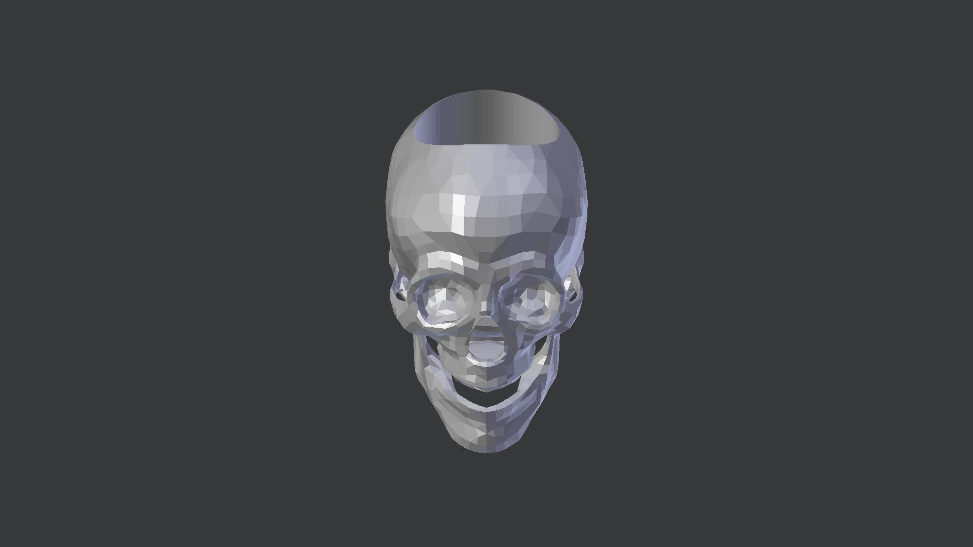 Sk1.png Télécharger fichier STL gratuit ANNEAU CRÂNE BAS POLY • Objet à imprimer en 3D, shadersinc