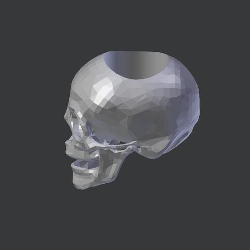 Sk2.png Télécharger fichier STL gratuit ANNEAU CRÂNE BAS POLY • Objet à imprimer en 3D, shadersinc