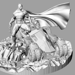 Download 3D printer model BATMAN & BATMOBILE, jonas_brother