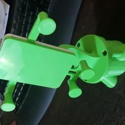 2019-01-20_18.15.54.jpg Download free STL file Cell Phone Desk Holder • 3D printable model, raulrrojas