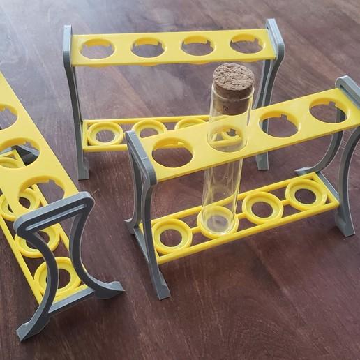 Download free 3D printer templates Test tube holder for 29mm diammeter tubes (Soporte tubos de ensayo), raulrrojas